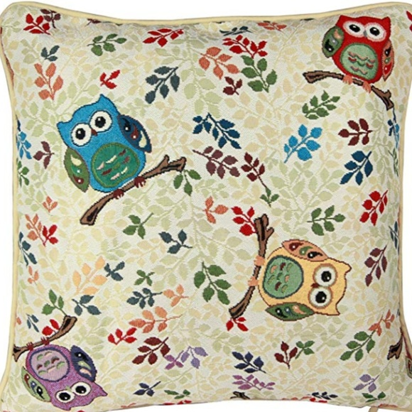 Other - NEW TAPESTRY OWL DECOR THROW PILLOW CASE COVER